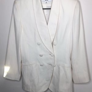 Women's White Vintage Blazer